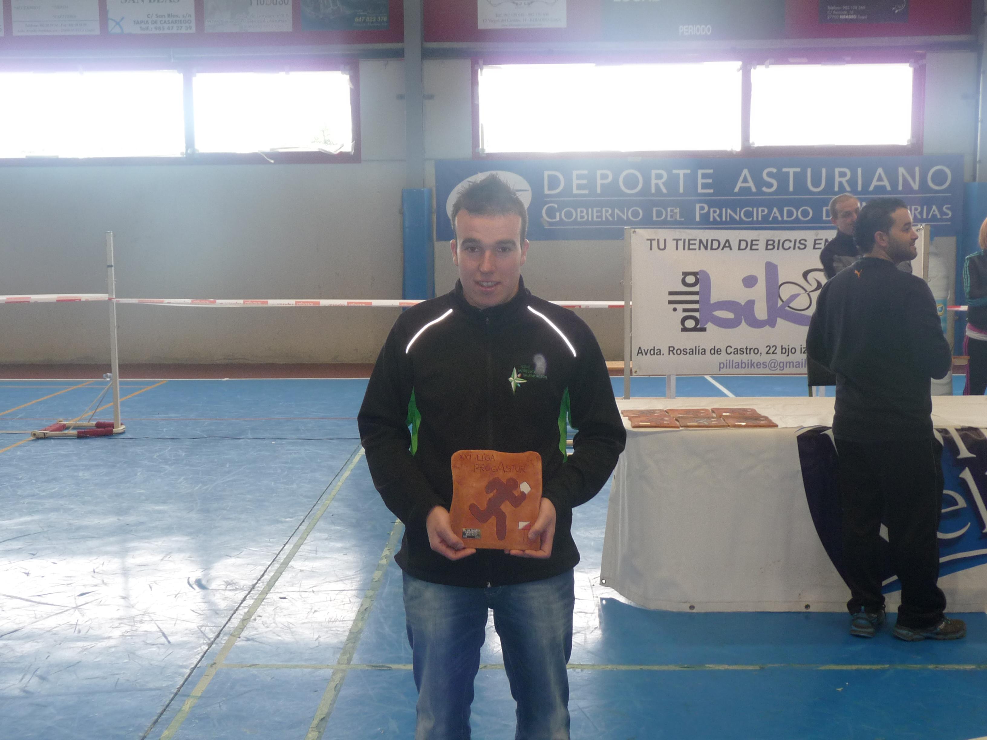 Ruben Martinez (Primero en el II Campeonato Asturiano de Orientacion Categoria HE)